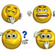 Four Smileys — Stock Photo
