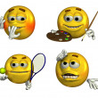 Four Fun Emoticons — Stock Photo #8295742