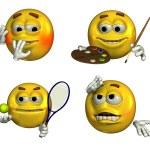 Four Fun Emoticons — Stock Photo #8295742