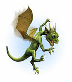 Baby Dragon Learning to Fly — Stock Photo
