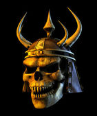 Demon Warmonger Skull — Stock Photo