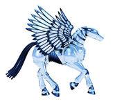 Chrome Pegasus — Stock Photo