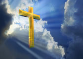 Heavenly Cross — Stock Photo