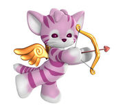 Cupid kitty — Stockfoto
