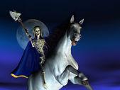 смерть верхом на лошадях — Стоковое фото