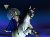 Muerte a caballo — Foto de Stock