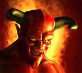 Devilish Grin — Stock Photo