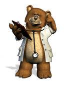 医生熊 — 图库照片