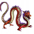 Red Oriental Dragon — Stock Photo
