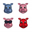 Piggy Emoticons 1 — Stock Photo #8311481