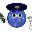 Police Officer Emoticon - Stock Photo
