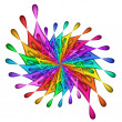 Stock Photo: Rainbow Teardrop Pinwheel