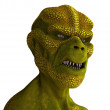 Reptilian Alien Portrait — Stock Photo