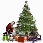 Santa at Work — Stock Photo #8311542