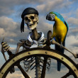Stock Photo: Skeleton Pirate