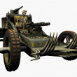 Skeleton Driving a War Machine - Stockfoto