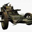 Skeleton Driving a War Machine — Stock Photo #8311638