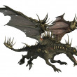 Stock Photo: Spiky Dragon Flying