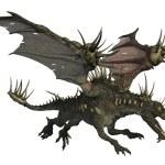 Spiky Dragon Flying — Stock Photo