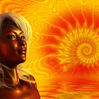 Sun Goddess - Stock Photo
