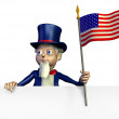 Stock Photo: uncle sam