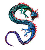 Colorful Oriental Dragon — Stock Photo