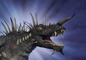 Spiky Dragon with Background — Stock Photo