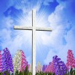Springtime Easter Cross — Stock Photo