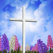 Springtime Easter Cross - Stock Photo