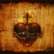 Sacred Heart on Parchment — Stock Photo #9148966
