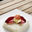 Vegetarian rice cake — Stock Photo #10049007