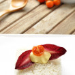 Vegetarian rice cake — Stock Photo