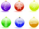 Palle di Natale in vetro — Stockvector