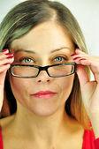 Vista da Donna con occhiali — Fotografia Stock