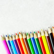 Pencil rainbow background - Stock Photo