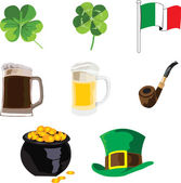 Symbols of the holiday of St. Patrick — Stock Vector