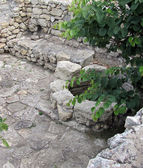 De overblijfselen van de oude stad van chersonesus. — Stockfoto