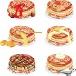 Pancakes with different fillings — Stock Vector #9133803