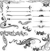 Art Nouveau corners and dividers — Stock Vector