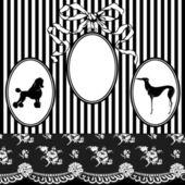 Vintage Art Nouveau Frame — Stock Vector