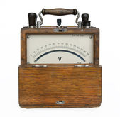 Ancient voltmeter. — Stock Photo