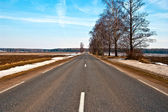 Straight Country Highway — Stock Photo