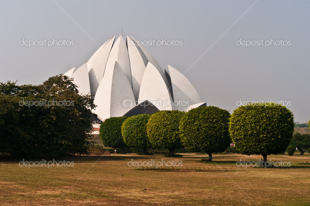 Lotus Temple in Delhi.  Stock Photo #8257675