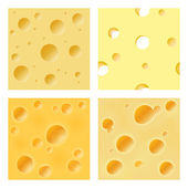 Seamless cheese matrix — Stock Vector