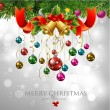 Merry Christmas & Happy New Year — Imagen vectorial