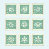 Snowflake Element — Stock Vector