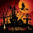Happy halloween-kort — Stockvektor