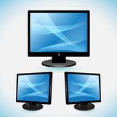 Balck TV, LCD, Monitor — Stock Vector