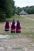Womans in the ukrainian national dress — Stock Photo