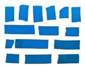 Blue tape slices — Stock Photo